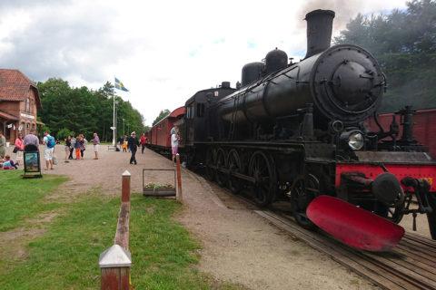 Ångtåget på Österlen på Brösarps station.