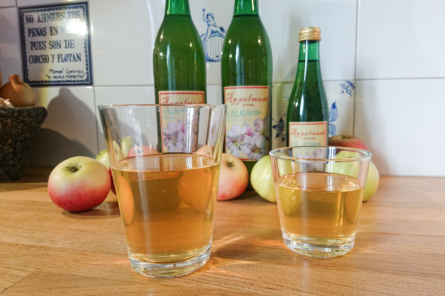 Källagården's apple juice.