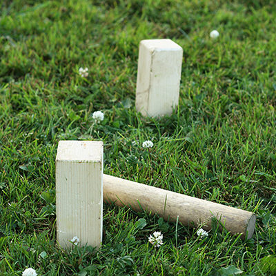You can borrow a set of the Swedish lawn game kubb if you want to play.