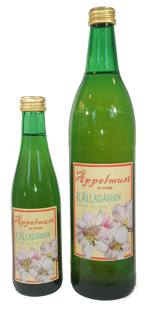 Källagården's apple juice from the Frida apple.