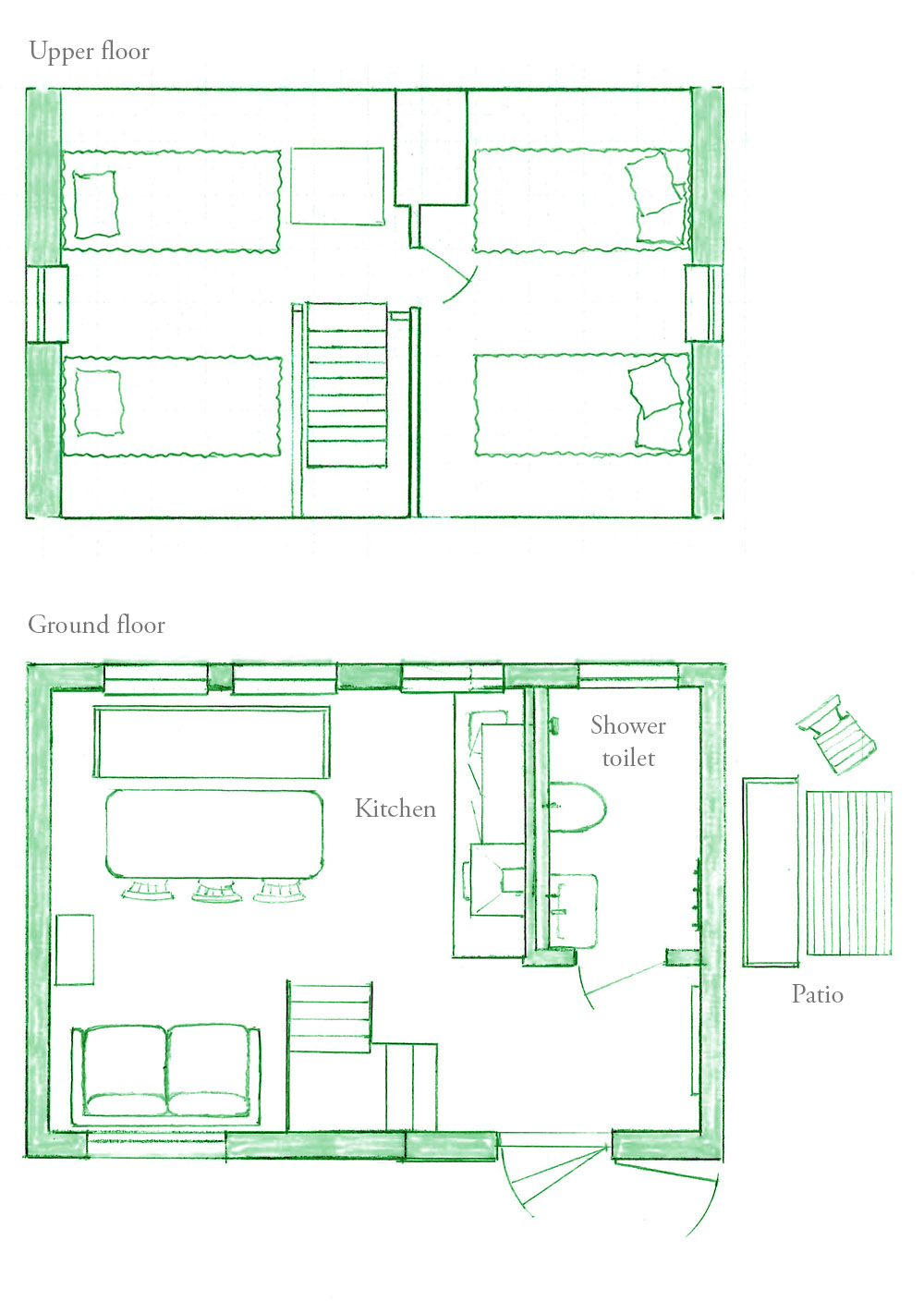 Interior planning for the cottage.