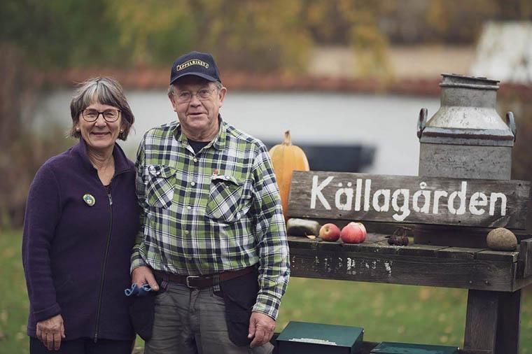Eva and Jörgen at Källagården.