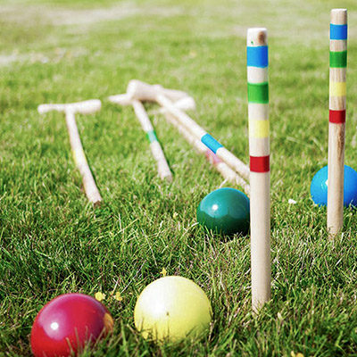 You can borrow a croquet set if you want to play.