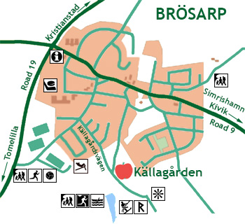 Brösarp village map.