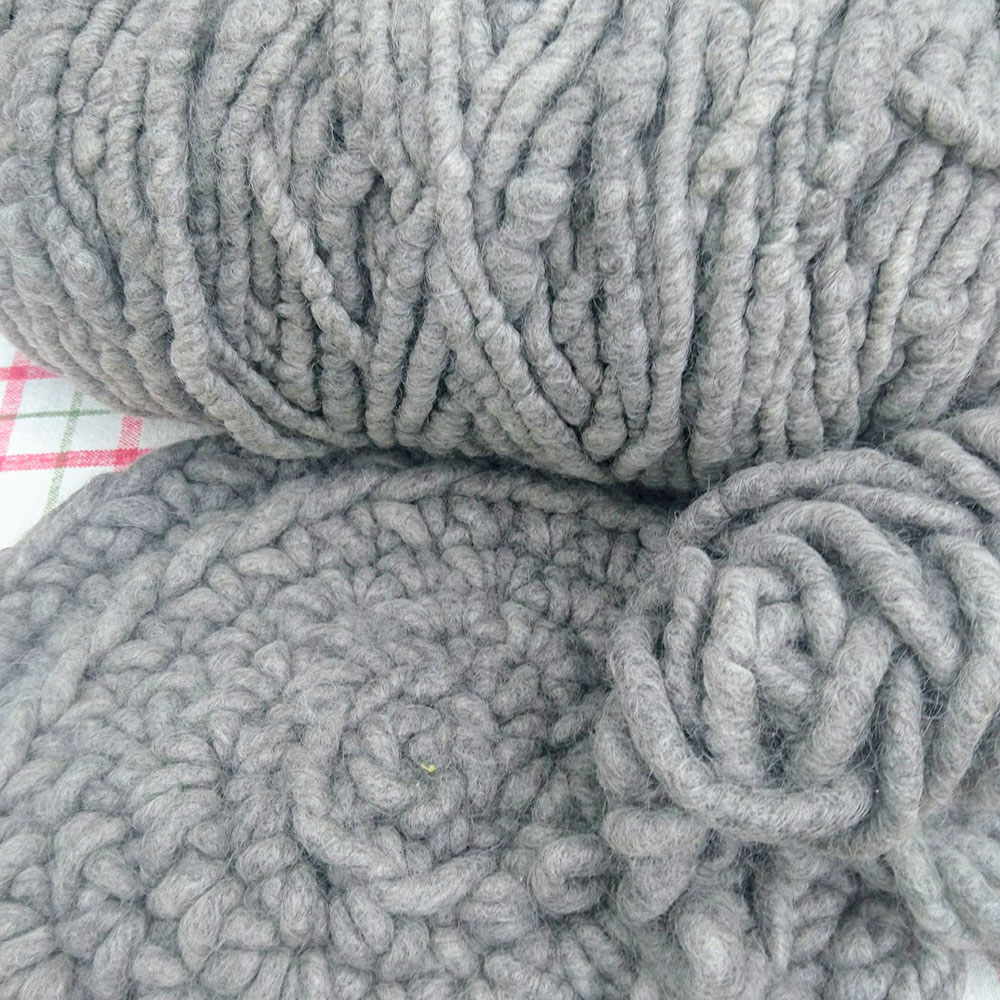 Yarn of 100 percent pure wool.